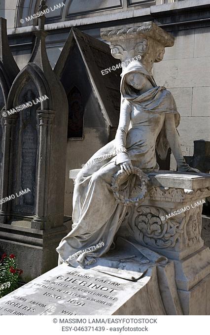 Tomb of Antoine Guerinot, architect, Pere-Lachaise cemetery, Paris
