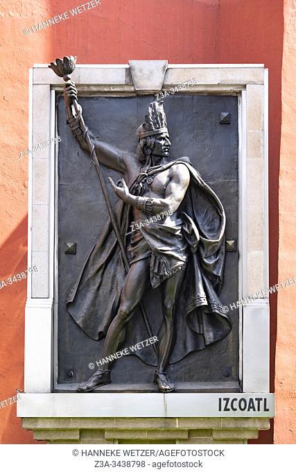 Izcoatl statue, Mexico City, Federal District, Mexico