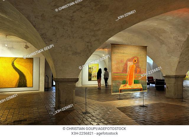 temporary exhibition of works by Jiri Sopko, Egon Schiele Art Centrum, Cesky Krumlov, South Bohemia, Czech Republic, Europe