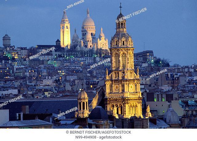 Hill of Montmartre, cathedral Sacré Coeur, Paris. France