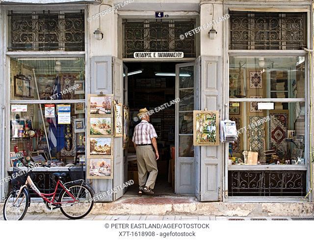 An old haberdashers, sewing, shop, in Nafplio, Argolid, Peloponnese, Greece