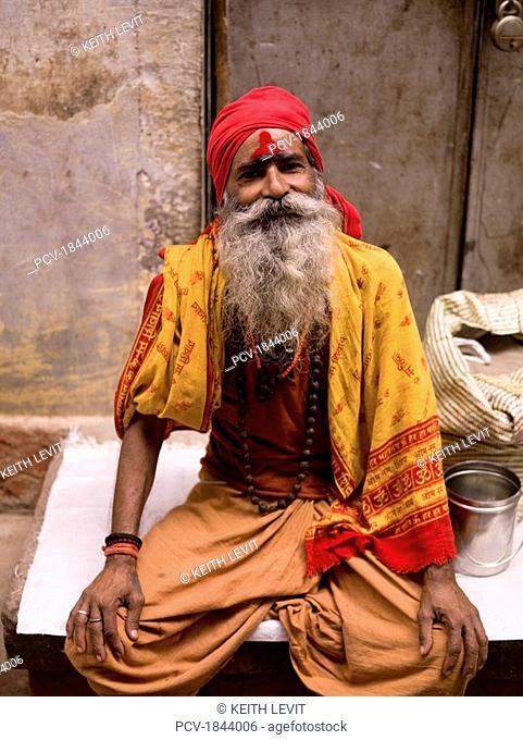 Varanasi,India,Sadhu