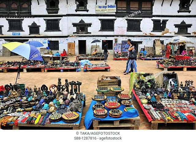 Souvenir market at Basantapur Dabali Square