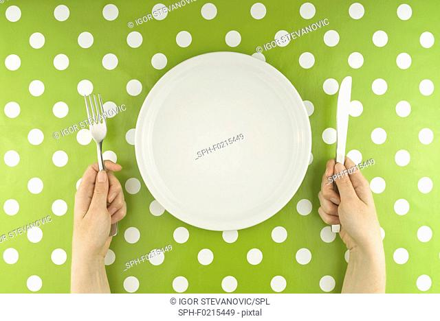 Person with empty plate