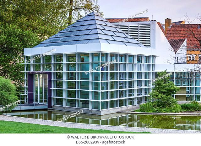 Denmark, Funen, Odense, H. C. Andersen House Museum, modern museum entrance