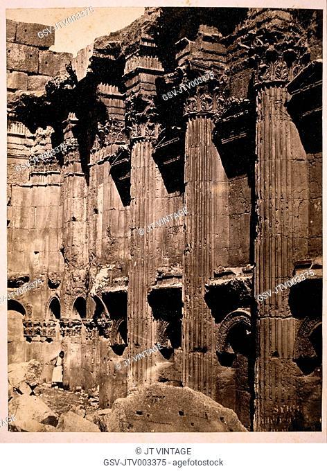 Temple of Baachus, Baalbek, Lebanon, circa 1880