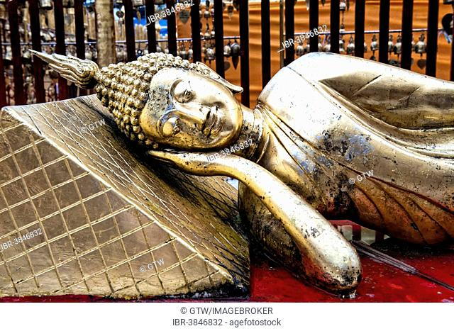 Buddha statue, Wat Phra That Doi Suthep, Chiang Mai, Thailand