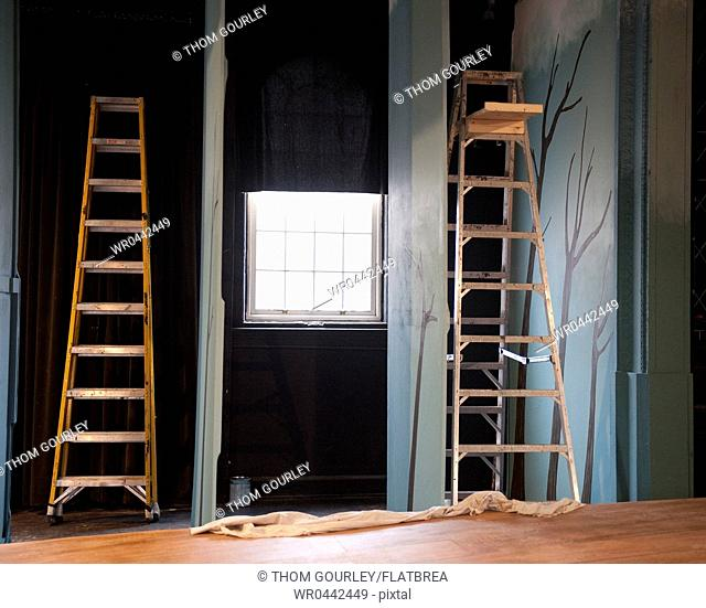 Ladders Offstage in a Theatre