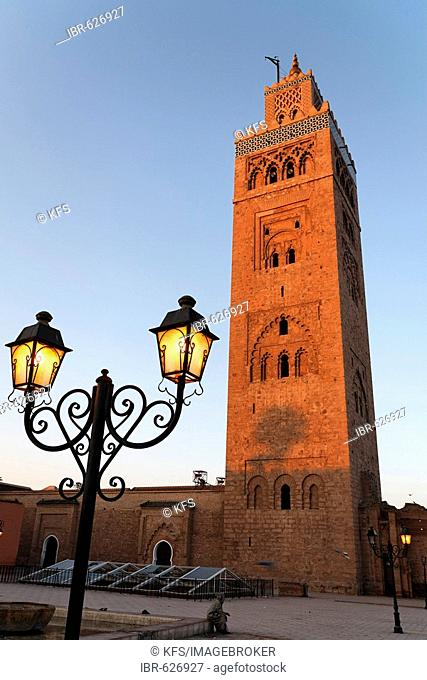 Minaret of the Koutoubia mosque, Marrakech, Morocco, Africa