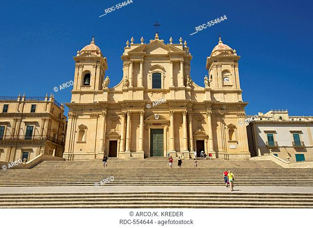 San Nicolo Cathedral, Noto, Val di Noto, Sicily, Italy
