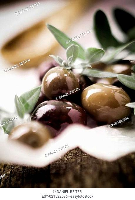 Deliciouss fresh black olives