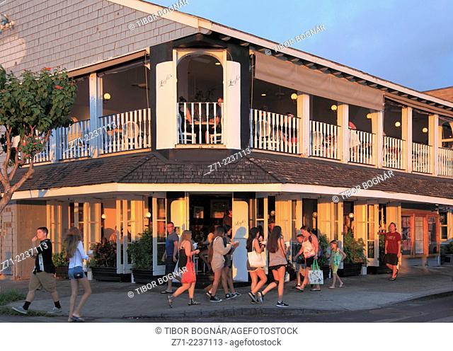 Hawaii, Maui, Lahaina, Front Street, street scene,