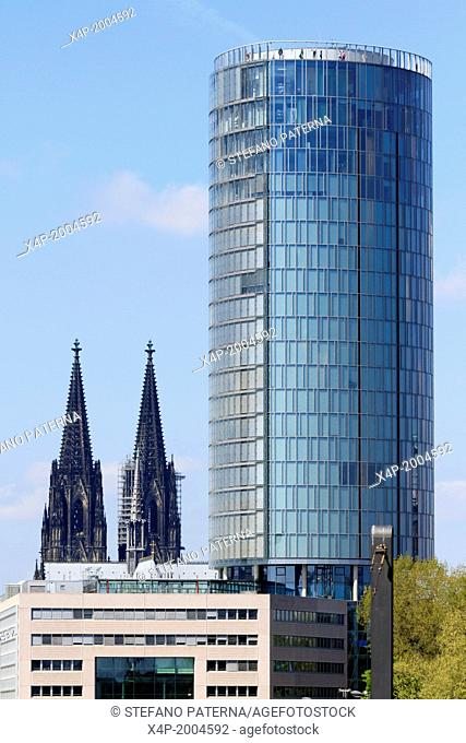 Cologne Cathedral Dom and KölnTriangle formerly also known as LVR-Turm is a 103.2 metres 339 ft tall building in Deutz, Cologne