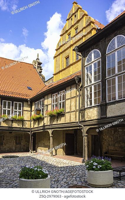 Castle and Monastery buildings on Schlossberg in Quedlinburg, Saxony-Anhalt, Germany