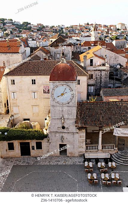 15th century Town Hall on John Paul II Square, Trogir, UNESCO, Dalmatia, Croatia, Europe