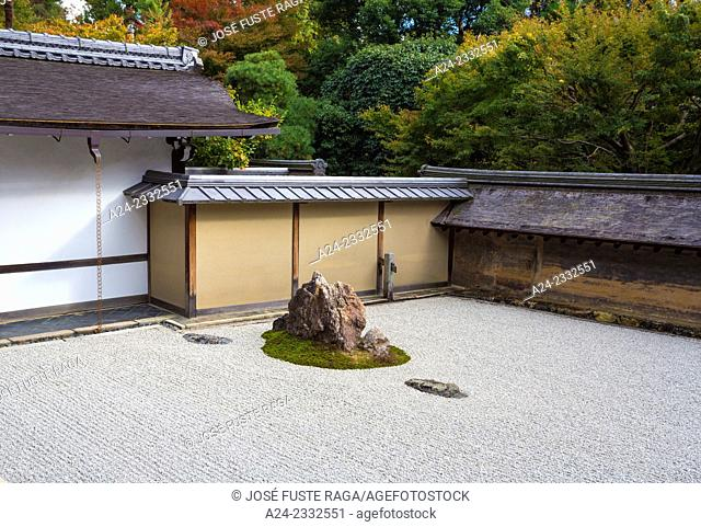 Japan , Kyoto City, Ryoan-ji Temple, The rock garden
