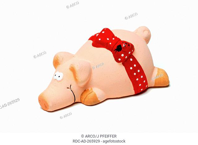 Ceramic Pig of luck / good luck charm, figures, New Year