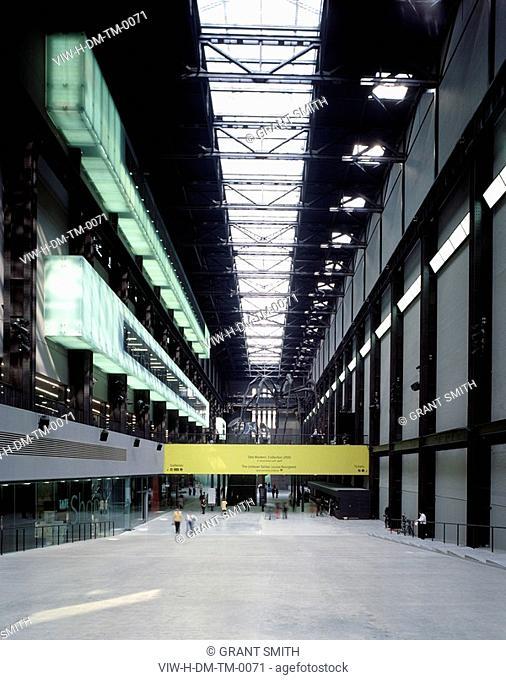 TATE MODERN, LONDON, UNITED KINGDOM, Architect HERZOG & DE MEURON, 2000