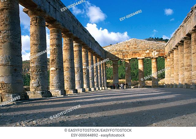 Doric temple, ruins of the ancient city of Segesta (Greek Egesta). Sicily, Italy