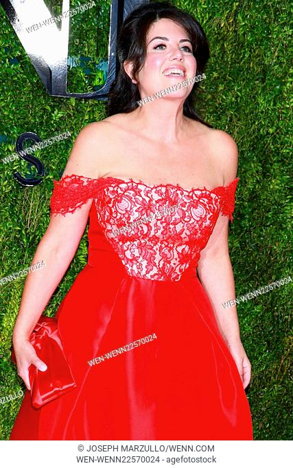 The 69th Annual Tony Awards held at Radio City Music Hall - Arrivals. Featuring: Monica Lewinsky Where: New York City, New York