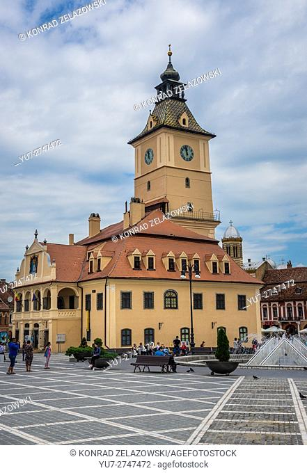 Former City Hall of Brasov, Romania called Council House (Casa Sfatului) at Council Square, main square of the city
