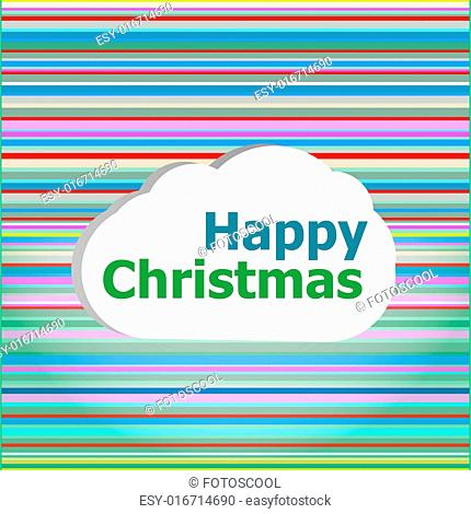 Seamless abstract pattern background with happy christmas words