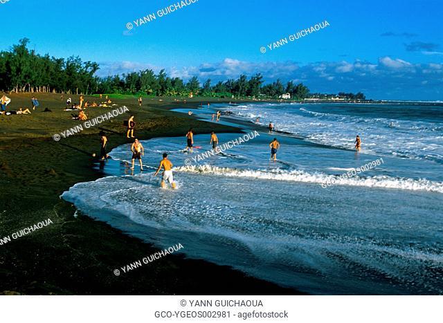The Etang Sale Beach, Reunion Island, France