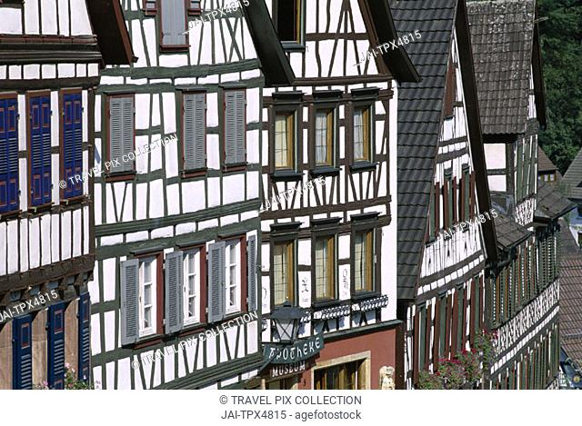 Black Forest (Schwarzwald) / Timbered Houses, Schiltach, Baden-Wurttemberg, Germany