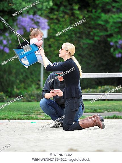 Jaime King and Jordana Brewster take their children to Coldwater Park in Beverly Hills for a playdate Featuring: Jaime King