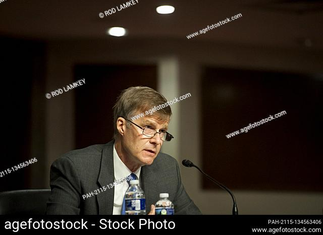 Lucas N. Polakowski, of Virginia, appears before a Senate Committee on Armed Services hearing to examine his nomination to be Assistant Secretary