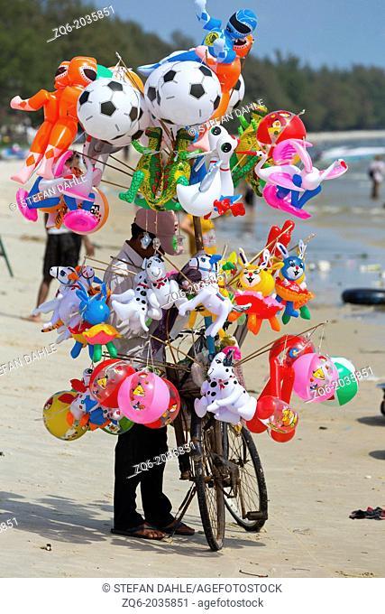 Balloon Seller on Serendipity Beach in Sihanoukville, Cambodia