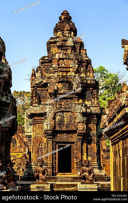 Banteay Srey Temple, Angkor Wat Temple Complex, Siem Reap, Cambodia