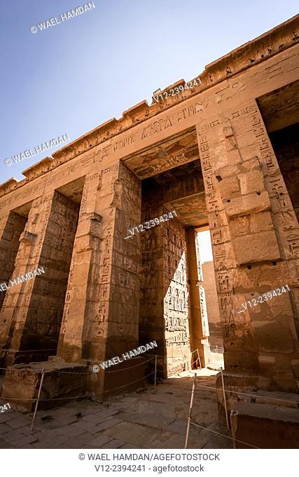 Medinet Habu temple, Luxor, Egypt