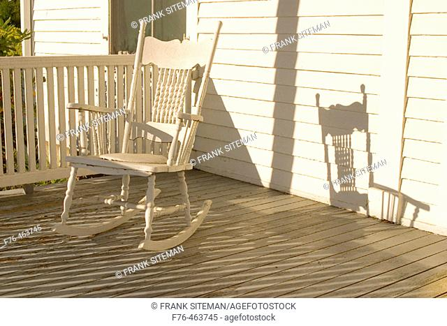Superb Rocking Chair Porch Farm Stock Photos And Images Age Fotostock Ibusinesslaw Wood Chair Design Ideas Ibusinesslaworg