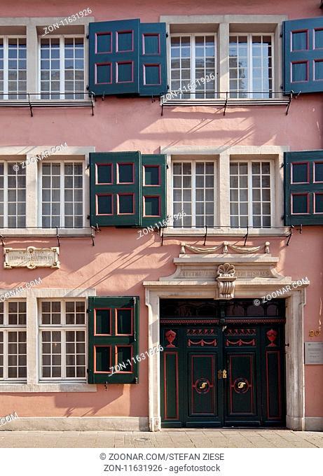 Geburtshaus Ludwig van Beethoven, Altstadt, Bonn, Nordrhein-Westfalen, Deutschland, Europa