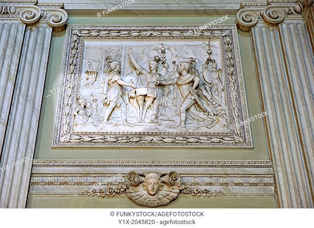 """""""""""""""""""""""The Room of the Bodyguards"""""""" - Bas-reliefs made between 1786 and 1789 depicting scenes from the second Punic War. The Kings of Naples Royal Palace of..."""