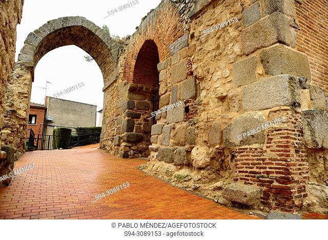 Caliphal gate in the church of Santa María de los Alcazares, Maqueda, Toledo, Spain