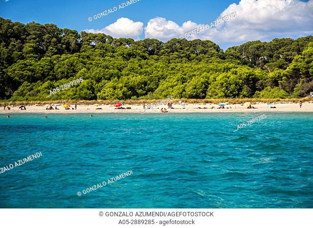 Cala Trebaluger Beach. Ferreries Municipality. Minorca. Balearic Islands. Spain