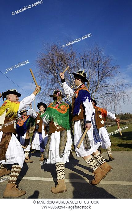 A folk group (Pauliteiros de Miranda) that practice an ancient warrior Iberian dance. Traditional Winter festivities in Constantim
