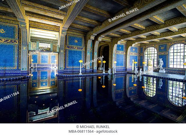 The roman indoor pool of the Hearst castle, Big Sur, California, USA
