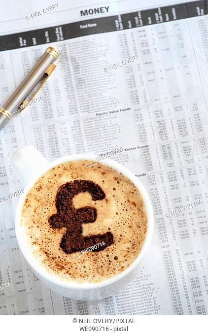 Coffee with Pound Sterling Sign