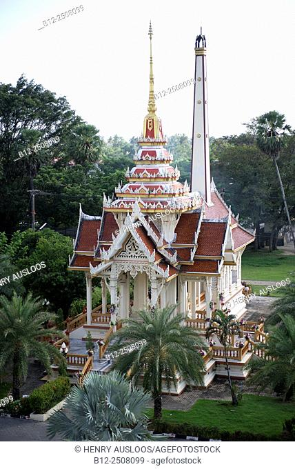 Crematorium, Wat Chalong temple, Phuket, Thailand