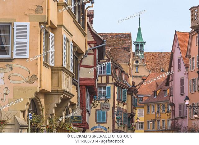 Colorful half-timbered houses, Colmar, France