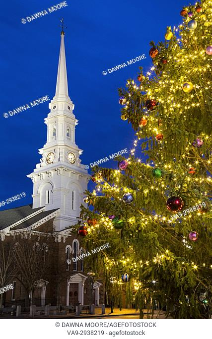 North Church at Christmas, Portsmouth, New Hampshire