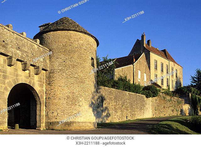 Porte du Val, Flavigny-sur-Ozerain, Cote-d'Or department, Burgundy region, France, Europe
