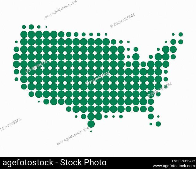 Karte der USA - Map of USA