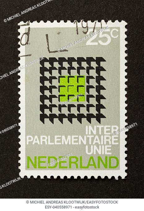 HOLLAND - CIRCA 1970: Stamp printed in the Netherlands shows it's value, circa 1970