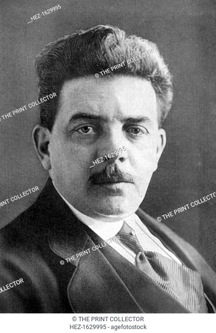 Édouard Herriot (1872-1957), French politician, 1926. Herriot was a French Radical politician of the Third Republic who served three times as Prime Minister and...