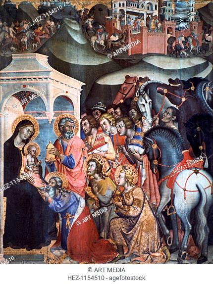 Adoration of the Magi, 1380s. From the Pinacoteca Nazionale, Siena, Italy