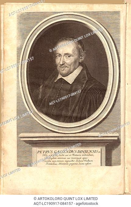 Petrus Gassendus Diniensis, Portrait of the theologian and naturalist Pierre Gassendi (1592-1655), signed: Nanteuil Faciebat, frontispiece, Nanteuil